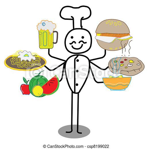 Chef food  - csp8199022