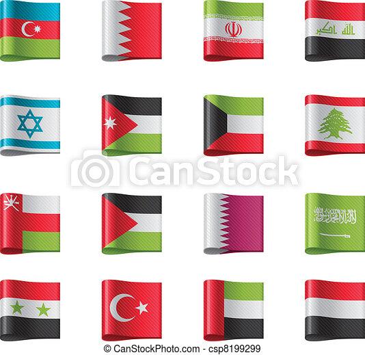 Vector flags. Asia, part 8 - csp8199299