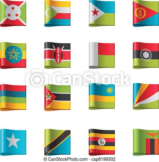Vector flags. Africa, part 9 - csp8199302