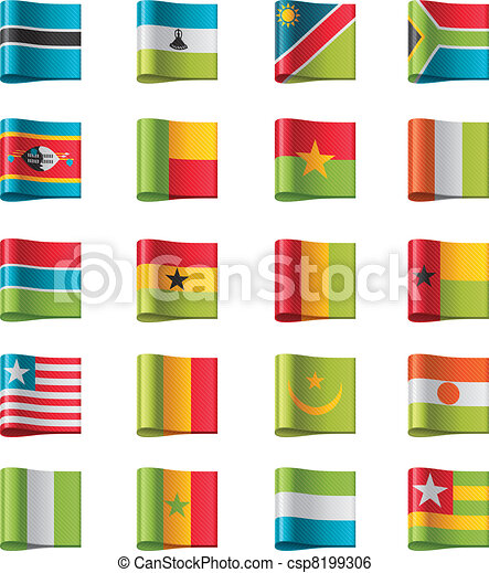Vector flags. Africa, part 11 - csp8199306