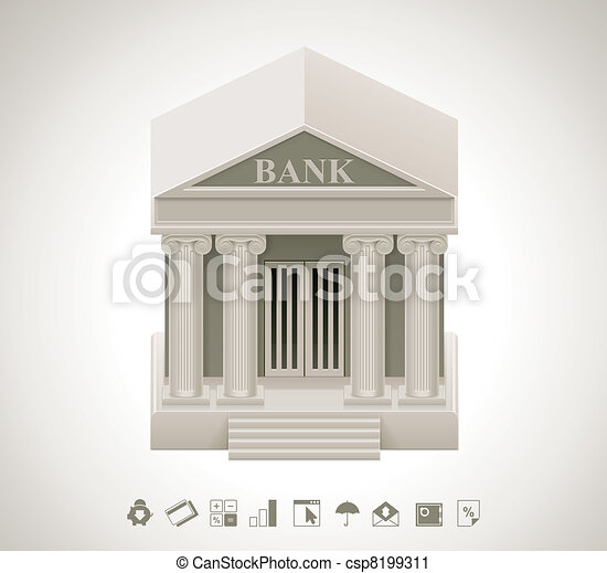 Vector bank icon - csp8199311
