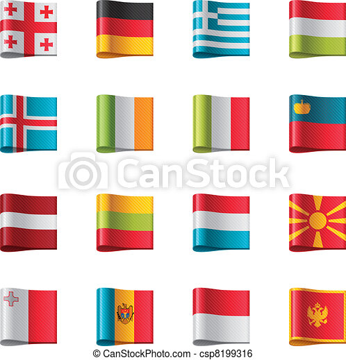 Vector flags. Europe, part 2 - csp8199316