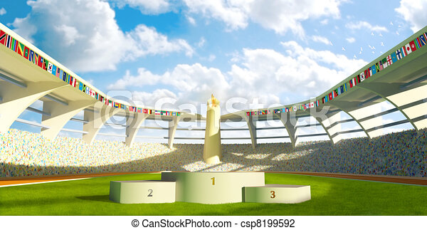 Olympic Stadium with podium - csp8199592