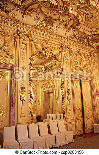 Interiors of the Polovtsov mansion - Architect's house, Saint Petersburg, Russia - csp8200456
