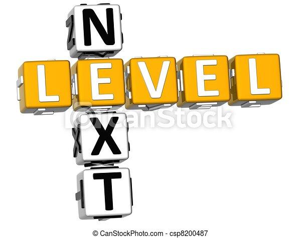 3D Next Level Crossword - csp8200487