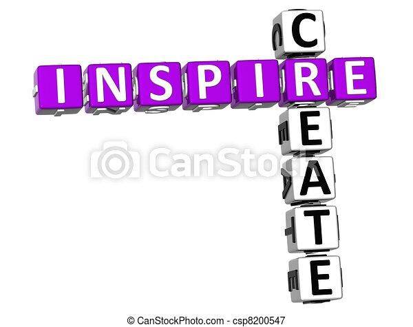3D Inspire Create Crossword - csp8200547