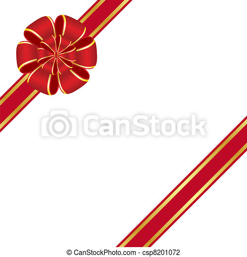 Red bow - csp8201072