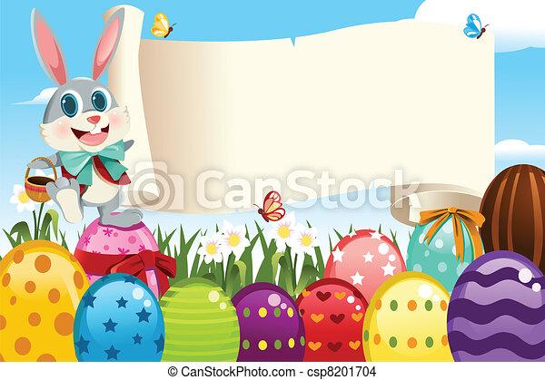Ostern, kaninchen - csp8201704