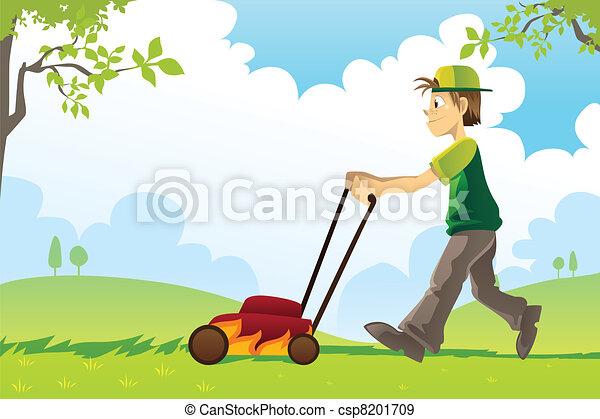 Mowing lawn - csp8201709