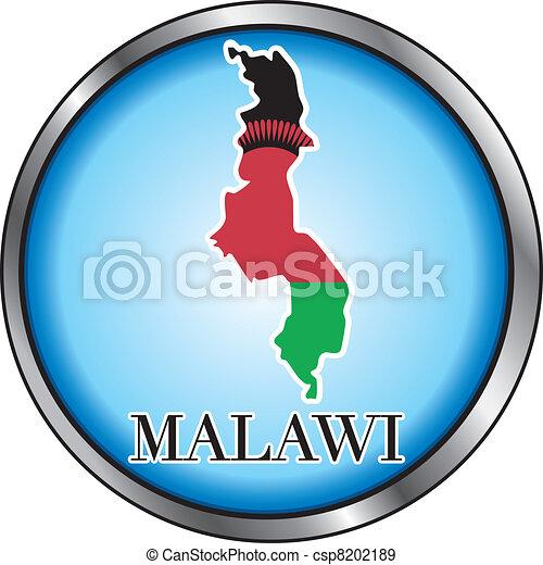 Malawi Round Button - csp8202189