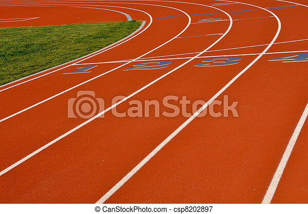 Oval Running Track - csp8202897