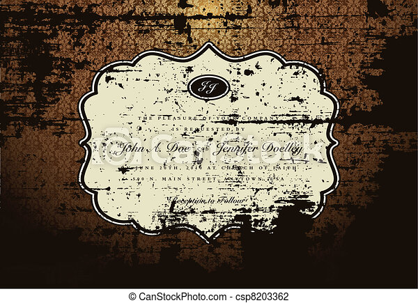 Vector Dirty Grunge Frame and Pattern - csp8203362