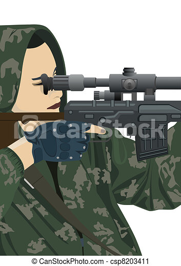 Sniper and sniper scope - csp8203411