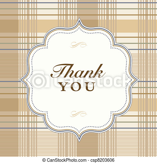 Vector Plaid Thank You Frame and Pattern - csp8203606