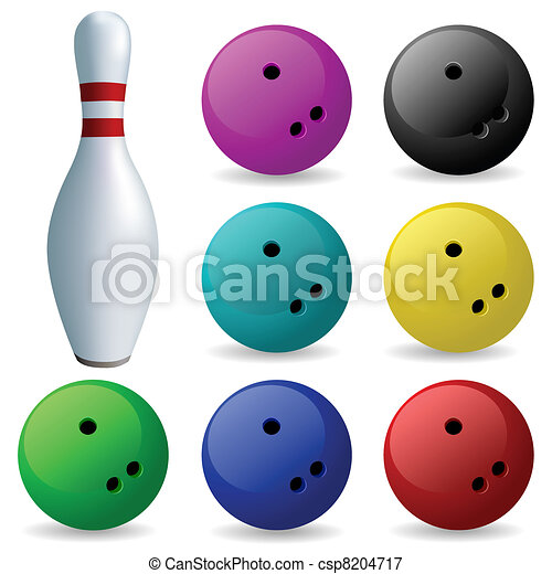 Set of balls. Bowling - csp8204717