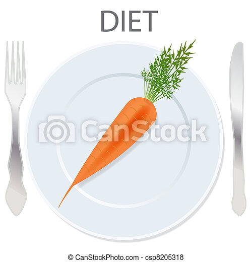 diet icon. vector illustration - csp8205318
