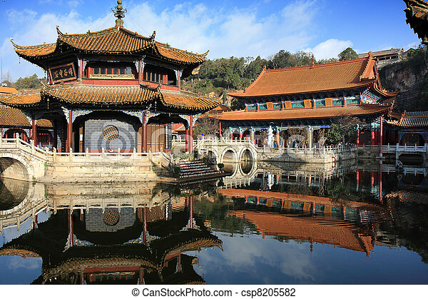 Ancient Chinese Architecture - csp8205582