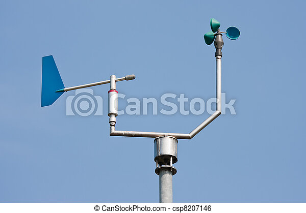 Anemometer measuring wind speed and direction