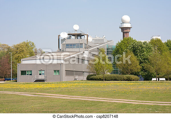 DE Bilt, THE  NETHERLANDS - APRIL  22:  Building of KNMI, the Dutch Royal Meteorological institute on April 22, 2011 - csp8207148