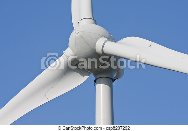 Close-up of an enormous windturbine - csp8207232