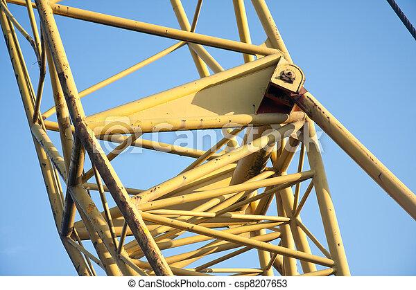 Tubular frame of the arm of a big jib crane - csp8207653