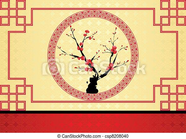 Chinese New Year greeting card - csp8208040