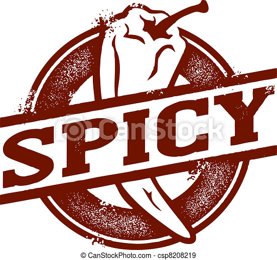 Spicy Food Chili Pepper Stamp - csp8208219