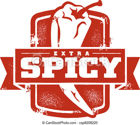 Extra Spicy Food Stamp - csp8208220