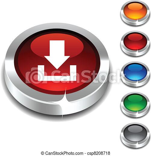 Download 3d button. - csp8208718