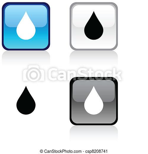 Rain button. - csp8208741
