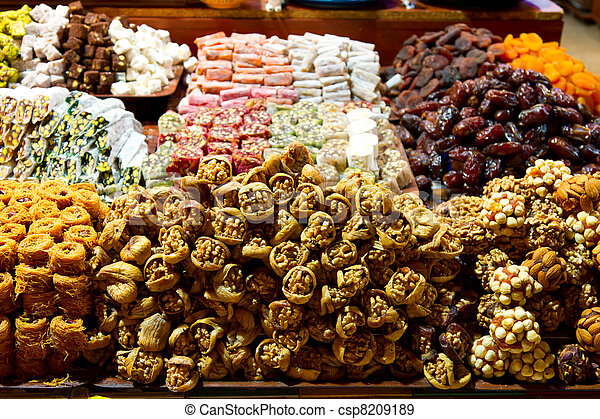 Mix Fruits from Spice Bazaar, Istanbul - csp8209189