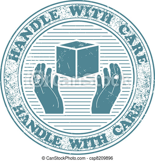 Handle with care stamp - csp8209896