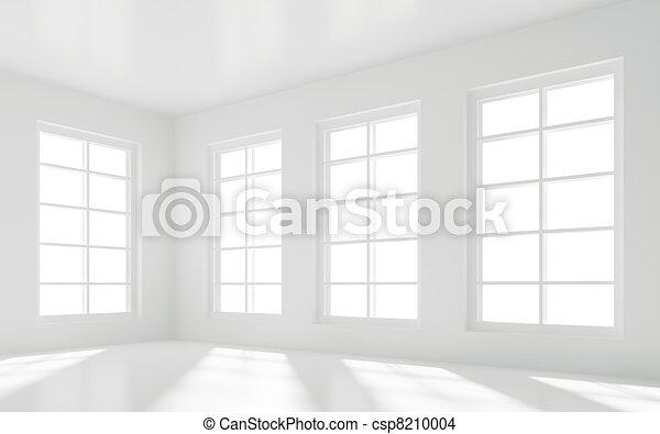 Tekening van witte kamer lege 3d illustratie van lege witte csp8210004 zoek naar - Witte kamer en fushia ...