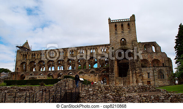 Jedburgh abbey - tourists attraction - csp8210868