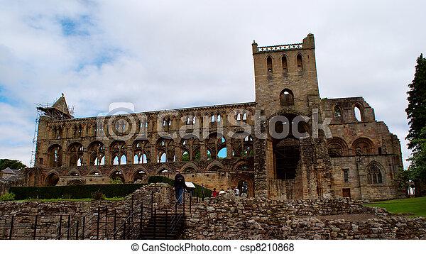Jedburgh abbey - tourists attraction - csp8210868