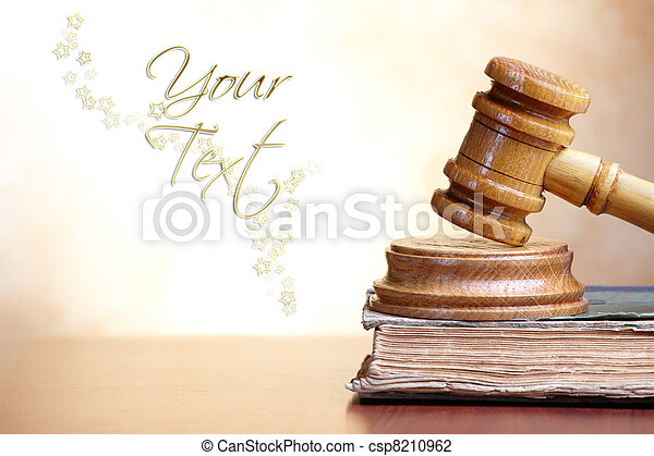 Gavel and book - csp8210962