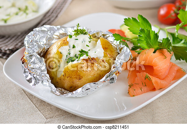 Baked potato - csp8211451