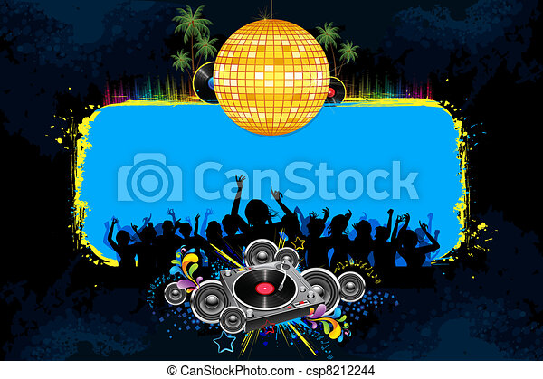 Disco Night - csp8212244