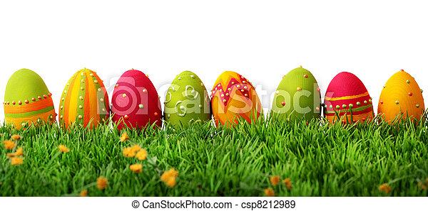 蛋, 復活節, 鮮艷 - csp8212989