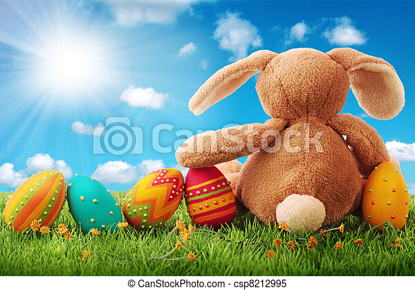 Colorful easter eggs - csp8212995