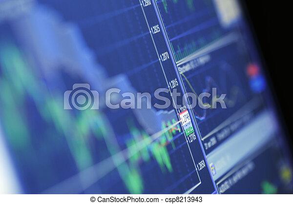 blu, crescita, grafico, casato - csp8213943