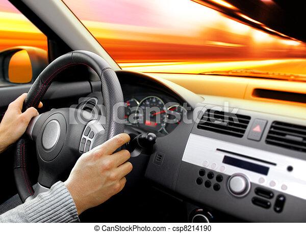 dashboard of car - csp8214190