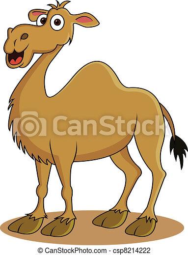funny camel cartoon - csp8214222