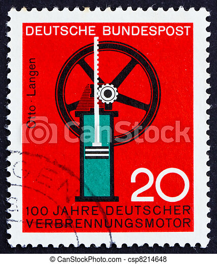 Postage stamp Germany 1964 Internal combustion engine - csp8214648