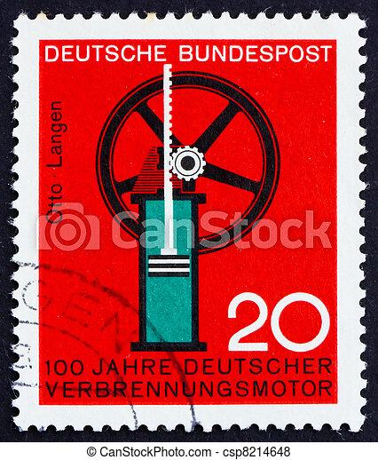 Postage stamp Germany 1964 Internal combustion engine - csp8214648