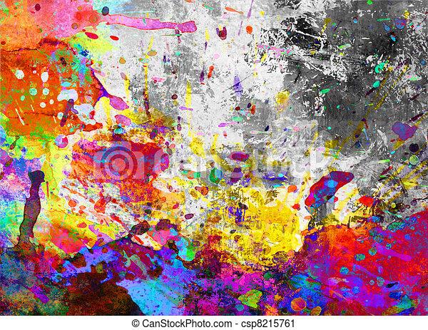 clipart de color peinture claboussure grunge color peinture csp8215761 recherchez. Black Bedroom Furniture Sets. Home Design Ideas
