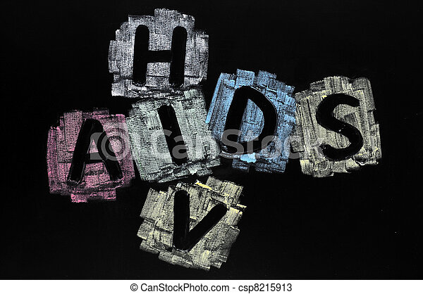 Crossword of HIV and AIDS - csp8215913