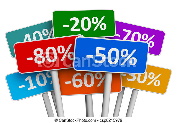 Sale and discount concept - csp8215979