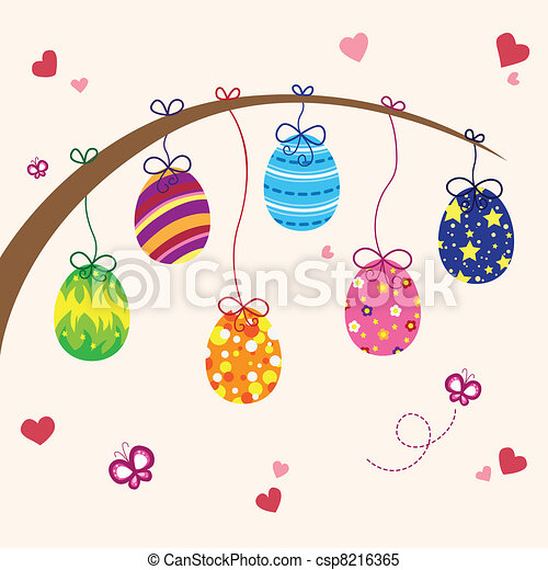 Easter eggs - csp8216365
