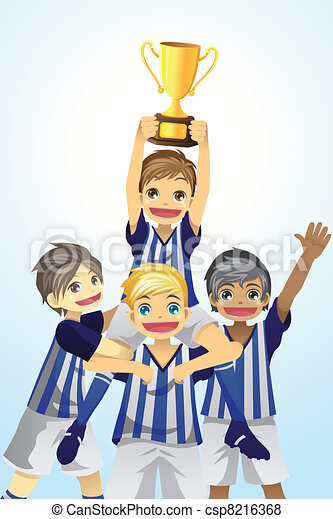 Sport kids lifting trophy - csp8216368